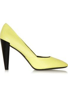 KENZO Lizard-effect leather pumps
