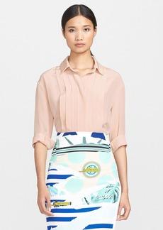 KENZO Long Pleated Silk Shirt