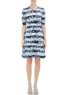 Kenzo Metallic Stripe Dress