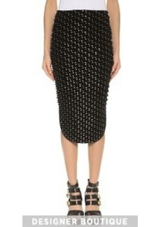 KENZO Metallic Tubes Embroidered Skirt