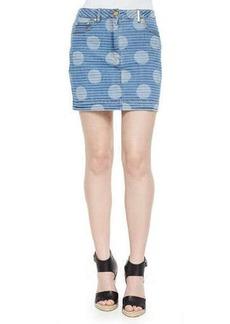 Kenzo Mixed-Print Denim Skirt