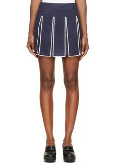 Kenzo Navy & White Cashmere Varsity Skirt