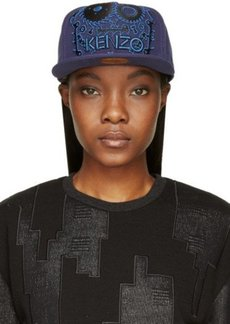 Kenzo Navy Signature Monster Embroidered Cap