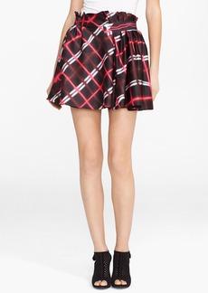 KENZO Neon Plaid Twill Skirt