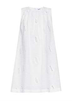Kenzo Oui and Non broderie-anglaise cotton dress