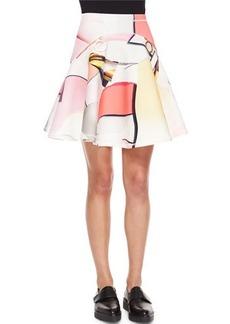 Kenzo Paper-Print Neoprene Circle Skirt