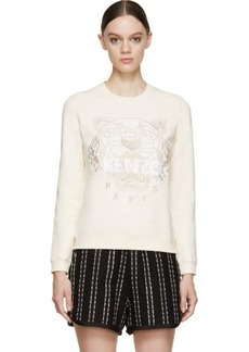 Kenzo Peach Embroidered Tiger Sweatshirt