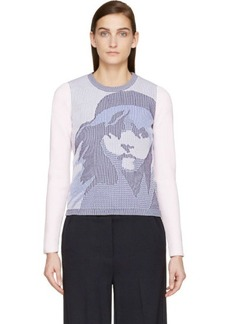 Kenzo Pink & Blue Knit Les Miserables Sweater