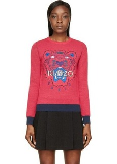 Kenzo Pink Embroidered Tiger Sweater