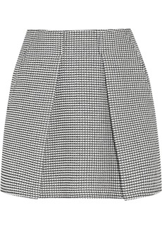 KENZO Pleated tweed mini skirt