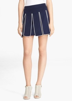 KENZO Pleated Wool & Cashmere Blend Skirt