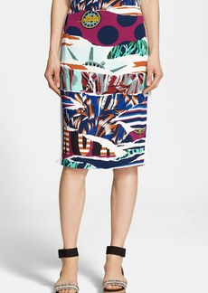 KENZO Print Pencil Skirt