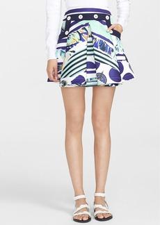 KENZO Print Satin Flared Skirt