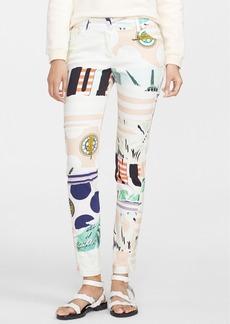 KENZO Print Stretch Cotton Twill Pants