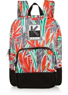 KENZO Printed canvas backpack