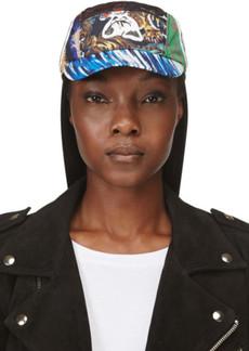 Kenzo Red & Blue Nylon Mixed Print & Logo Hat
