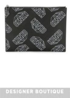 KENZO Rubberized Printed Flat Clutch