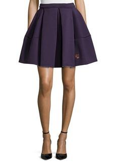 Kenzo Runway Pleated Skirt, Plum Blue