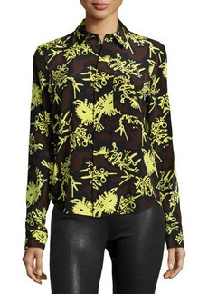 Kenzo Runway Printed Formal Shirt, Chocolate
