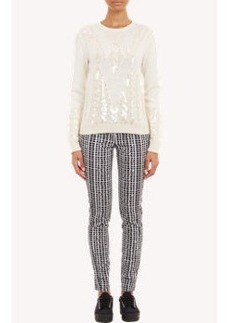 Kenzo Sequined Cable-Knit Sweater