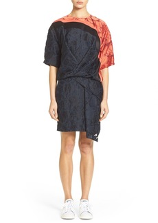 KENZO Short Sleeve Openwork Jacquard Dress