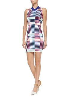 Kenzo Sleeveless Ribbed Intarsia Dress  Sleeveless Ribbed Intarsia Dress