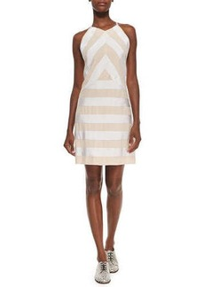 Kenzo Sleeveless Ribbon Dress W/ Solid Back  Sleeveless Ribbon Dress W/ Solid Back