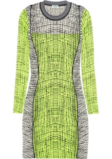 KENZO Stretch-knit cotton-blend mini dress