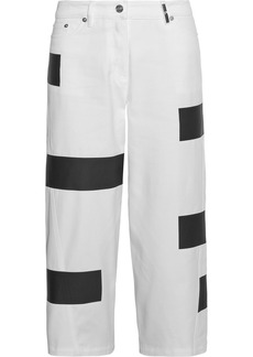 KENZO Striped cropped high-rise wide-leg jeans