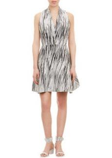 Kenzo Textured Wave-Pattern Halter Dress