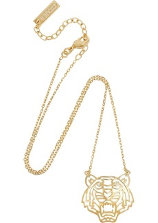 KENZO Tiger gold-plated cubic zirconia necklace
