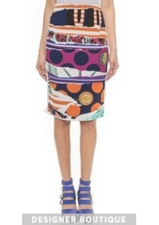 KENZO Torn Paper Pencil Skirt