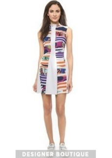 KENZO Torn Paper Ruched Neck Dress
