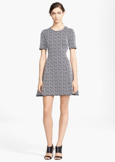 KENZO 'White Noise' Technical Jacquard Dress