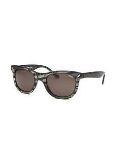 Kenzo Women's Diverse Round Black Geometric Pattern Sunglasses