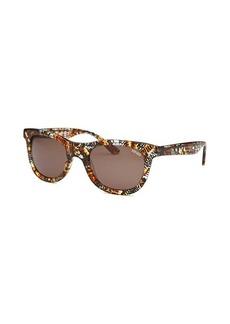 Kenzo Women's Ecaille Round Havana Animal Pattern Sunglasses