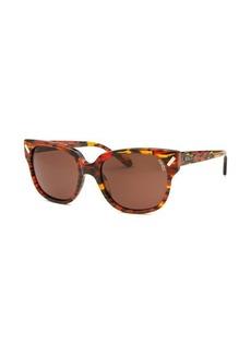 Kenzo Women's Square Orange and Brown Sunglasses