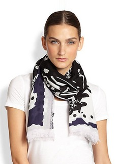 KENZO Working Tools Modal and Wool Scarf