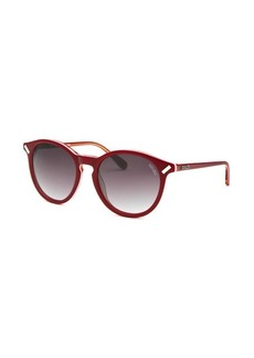 Women's Kenzo Round Red and Orange Sunglasses