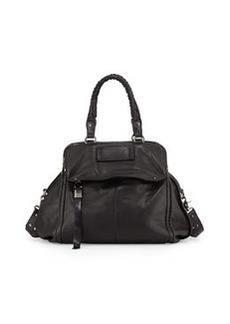 Kooba Angela Leather Satchel Bag, Black