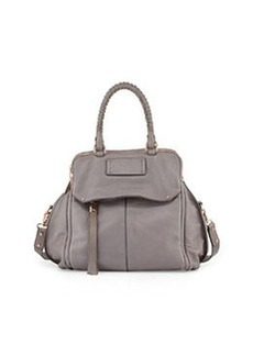 Kooba Angela Leather Satchel Bag, Cement Gray