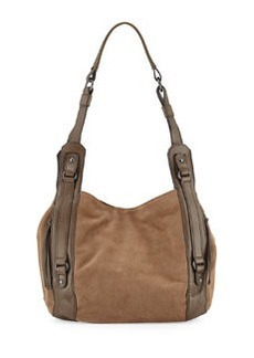 Kooba Aston Suede Shoulder Bag, Taupe