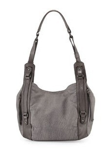 Kooba Aston Veined Leather Shoulder Bag, Denim