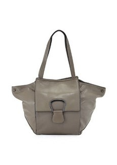 Kooba Avery Leather Shoulder Bag, Gray