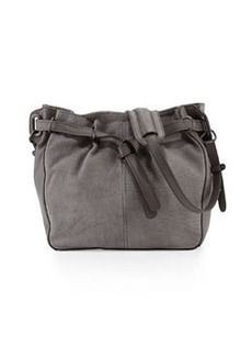 Kooba Bailey Two-Tone Leather Bucket Bag, Grey Denim
