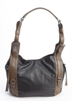"Kooba black and brown leather ""Aston"" shoulder bag"