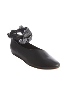 Kooba black leather 'Clarissa' flat with ankle tie
