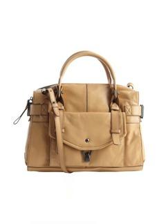 Kooba camel leather 'Kendal' buckle detail convertible top handle shoulder bag