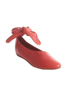 Kooba cherry red leather 'Clarissa' flat with ankle tie