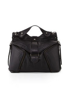 Kooba Cole Flap-Top Shoulder Bag, Black